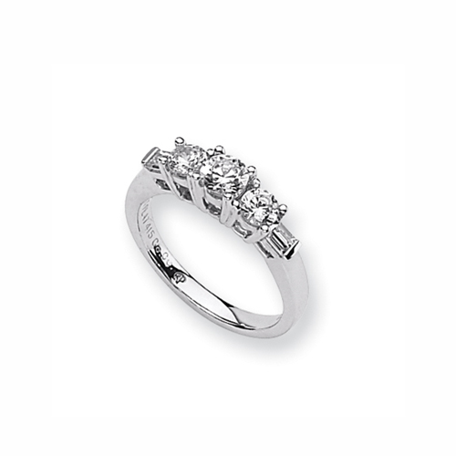 Karat Platinum .60ctw Holds .40ct Round Center Semi-Mount Ring. Price: $1498.47