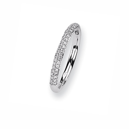 Karat Platinum .25ctw Diamond Micro Pave Ring. Price: $681.95