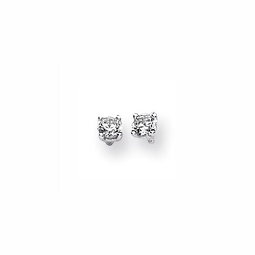 Karat Platinum .25ctw Round Diamond Screwback Earrings. Price: $417.51