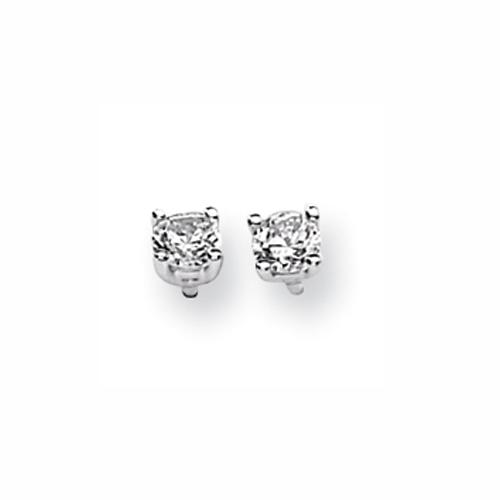 Karat Platinum .500ctw Round Diamond Screwback Earrings. Price: $841.37