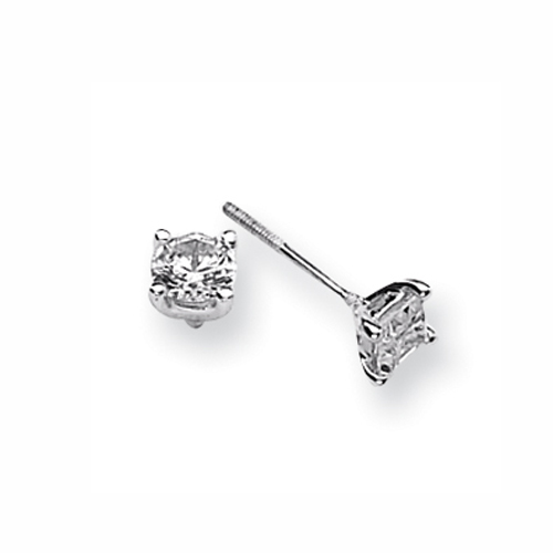Karat Platinum 1ctw Round Diamond Screwback Earrings. Price: $2369.85