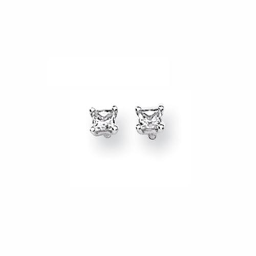 Karat Platinum .25ctw Princess Cut Diamond Screwback Earrings. Price: $479.40