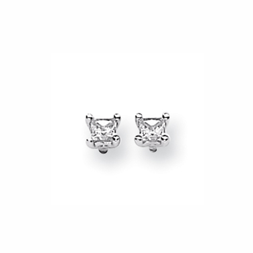 Karat Platinum .500ctw Princess Diamond Screwback Earrings. Price: $916.05