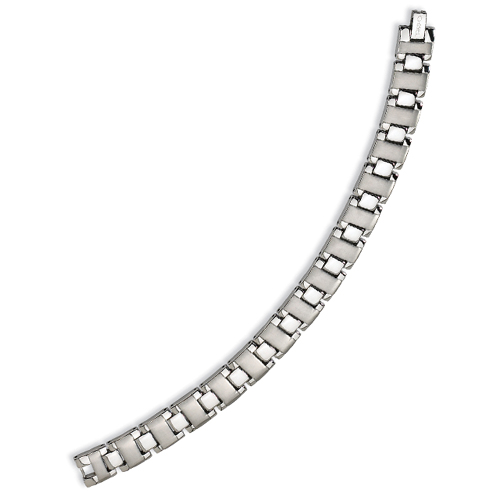 Stainless Steel Brushed and Polished Bracelet. Price: $39.50