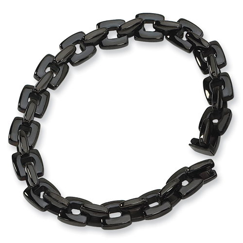 Stainless Steel Black Plated Bracelet. Price: $42.50