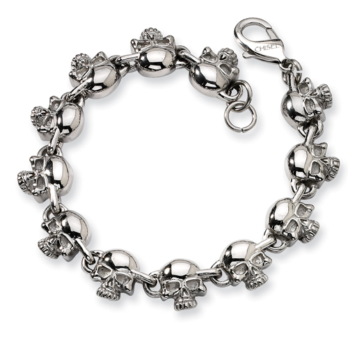 Stainless Steel Skull Bracelet. Price: $59.22