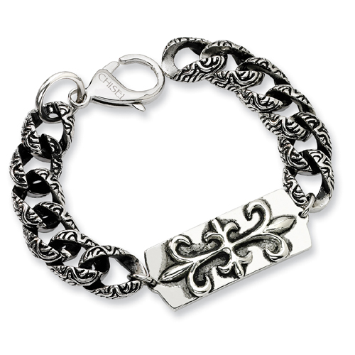 Stainless Steel Antiqued Gothic Bracelet. Price: $94.50