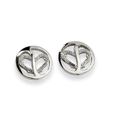 Stainless Steel CZ Earrings. Price: $30.66