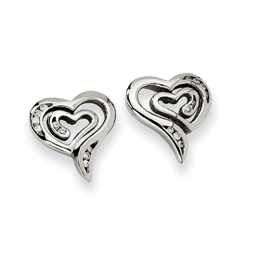 Stainless Steel CZ Earrings. Price: $40.06