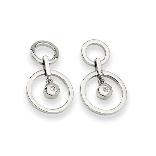Stainless Steel CZ Earrings. Price: $34.50
