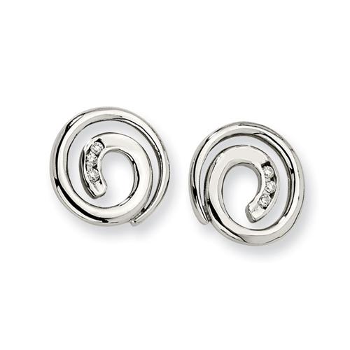 Stainless Steel CZ Earrings. Price: $42.50