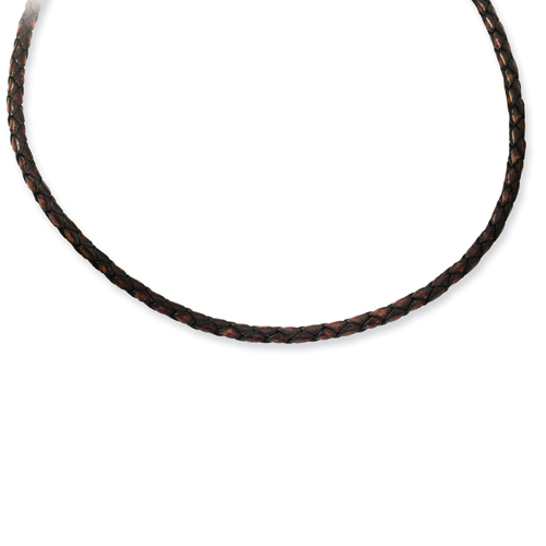 3.0mm Genuine Leather Weave Necklace. Price: $29.74