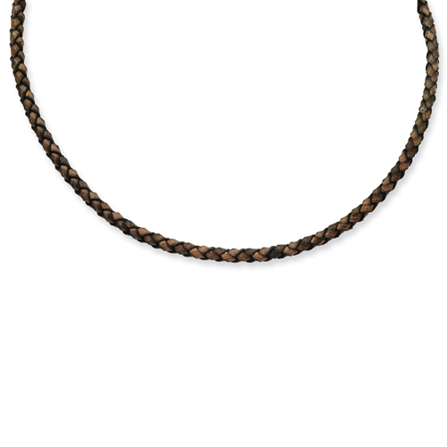 4mm Genuine Leather Hexagon Weave Necklace. Price: $29.50