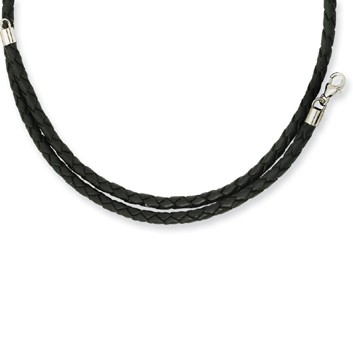 3.0mm Genuine Leather Weave Necklace. Price: $27.50