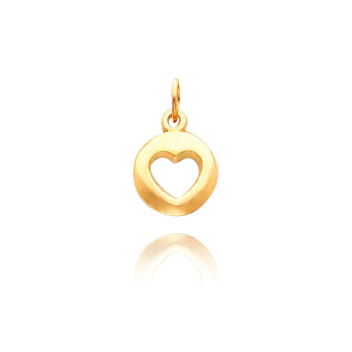 14K Gold Heart Cut-Out Necklace. Price: $125.12
