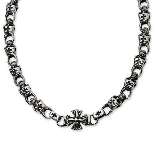 Stainless Steel Skull Necklace. Price: $176.74