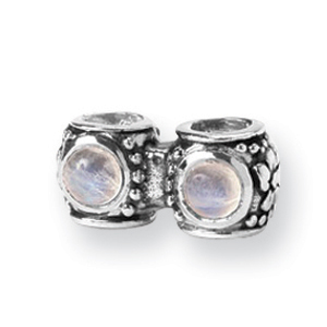 Sterling Silver Reflections CZ Connector Bead. Price: $59.84
