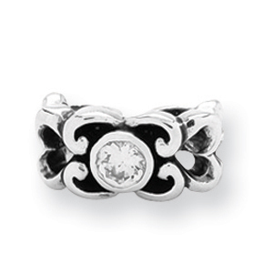 Sterling Silver Reflections CZ Connector Bead. Price: $44.52