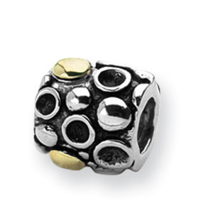 Sterling Silver & 14k Reflections Dots Bali Bead. Price: $24.20