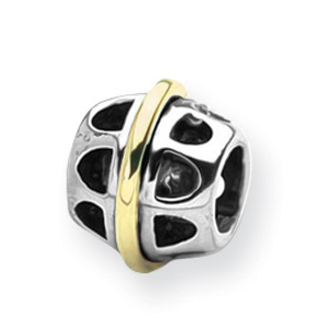 Sterling Silver & 14K Gold Reflections Bali Bead. Price: $73.50