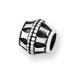 Sterling Silver Reflections Barrel Bead. Price: $19.00