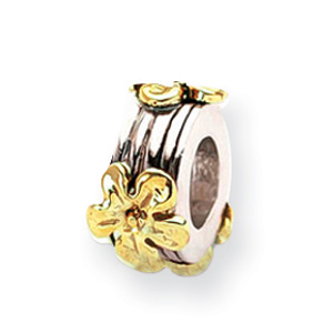 Sterling Silver & 14K Gold Reflections Floral Bead. Price: $110.44
