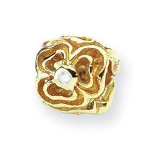 14K Gold & .015ct Diamond Reflections Floral Bead. Price: $415.80