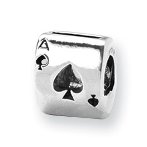 Sterling Silver Reflections Ace Card Bead. Price: $20.90