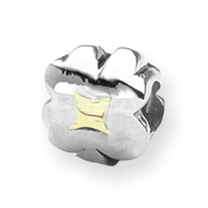 Sterling Silver & 14k Gold Reflections Clover Bead. Price: $53.40