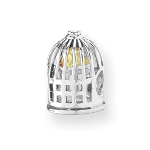 Sterling Silver & 14K Gold Reflections Bird Cage Bead. Price: $63.00