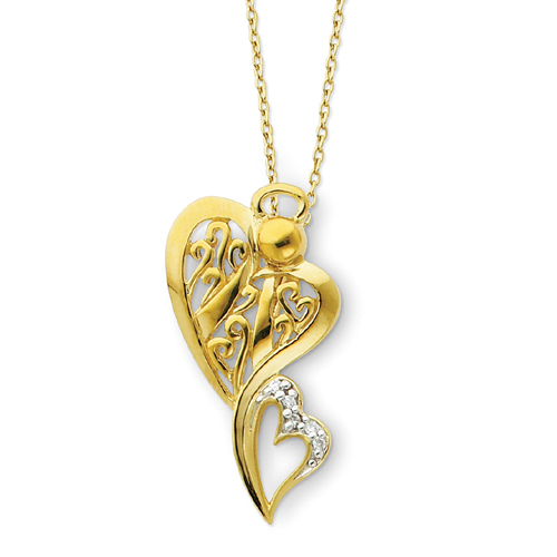 "Sterling Silver & Gold-plated Angel Of Protection 18"" Necklace. Price: $64.54"