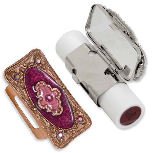 Copper-tone Purple Enameled Lipstick Holder. Price: $40.02