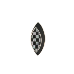 Chess-Styled Sterling Silver Pendant With Onyx And Mother Of Pearl