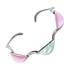 Sterling Silver Wave Cuff with Semicircle Multicolor Mother of Pearl Inlay