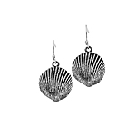 Sterling Silver Shell Dangle Earrings