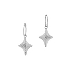 Sterling Silver 4-Point Star Dangle Earrings