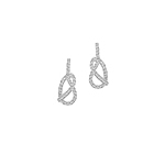 Sterling Silver Pave CZ Knot Stud Earrings