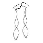 Sterling Silver Spiral Loop Dangle Earrings