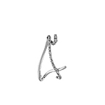 Sterling Silver Triangle-Shaped Pendant with CZ