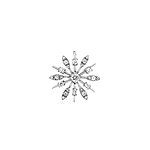 Sterling Silver Stick Petals Flower Pendant with CZ
