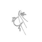 Sterling Silver Sticks and Petals Pendant with CZ