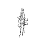 Sterling Silver Wrapped Sticks Pendant with CZ