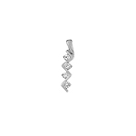 Sterling Silver Zigzag Pendant with CZ