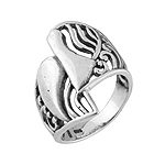 Waves Sterling Silver Ring