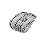 Threads and Ropes Plain Sterling Silver Ring