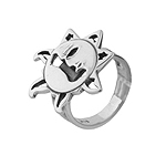 Sun and Stars Plain Sterling Silver Ring