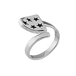 Stars Free Size Plain Sterling Silver Ring