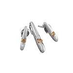 Sterling Silver Sticks Set with Champagne CZ