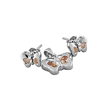 Sterling Silver Butterfly Set with Champagne CZ